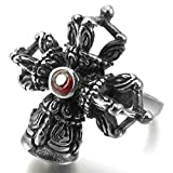 Aooaz Stainless Steel Rings For Men Crown Red - Best Reviews Guide