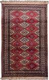 Morgenland Afghan Pakistan BUCHARA Teppich 150 x 95 cm Rot Handgeknüpft