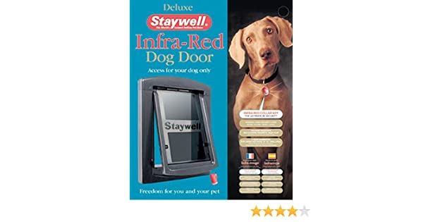 Staywell Deluxe Infra Red Dog Door With Security Barrier 861ml