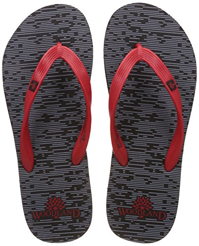 Woodland Men's Black Flip Flops Thong Sandals - 11 UK/India (45 EU)  available at amazon for Rs.349