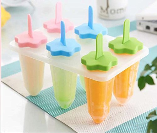 BJE - Ice Popsicle & Kulfi Maker Tray - Star Shape - 6 Pops - Foodgrade Plastic - Tableware  available at amazon for Rs.320