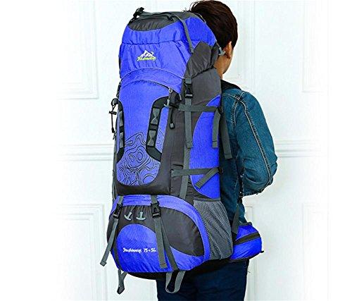 Reise-neue professionelle outdoor Bergsteigen Tasche Rucksack wasserdicht Außenrahmen der großen Kapazität Rucksack Tasche Blue