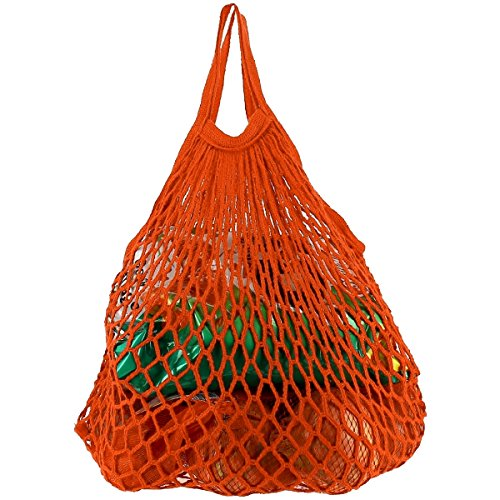 Promobo - Filet A Provision Cabas Légumes Du Marché Poignée Orange 40 x 40cm