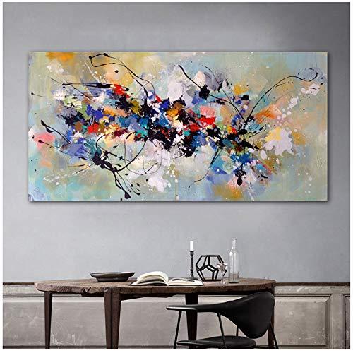 Pinturas lienzo Arte pared Cuadros abstractos sala