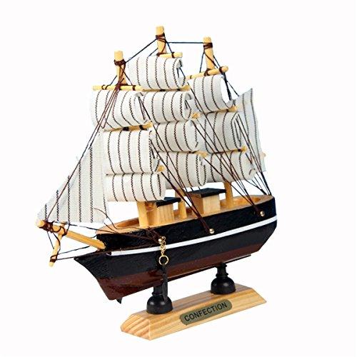 Evilandat Mittelmeer Segeln Modellschiff Segelschiff Geschenk Deko Weihnachten 24cm Zufällige Farbe