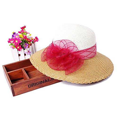 Chapeau coréen plage paille/Aucun lecteur/A des vacances H