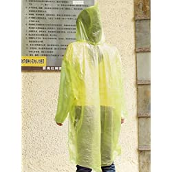12pcs Desechables Emergencia Chubasqueros Impermeable Adultos Para Lluvia