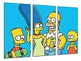 Quadro moderno fotografico Simpsons, Bart, Homer, 97x 62cm, rif. 26531