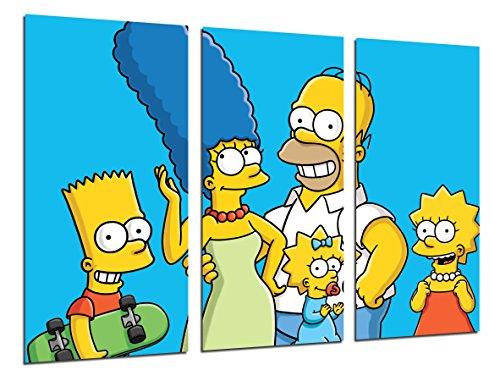 Wandbild - Die Simpsons, Bart, Homer, 97 x 62 cm, Holzdruck - XXL Format - Kunstdruck, ref.26531
