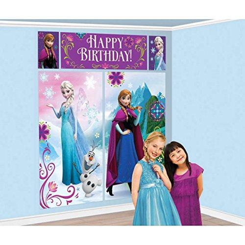 Disney Frozen Elsa Anna Amscan Happy Birthday Scene Setter - Wall Decoration Set / Wanddeko über 1,8 m groß!