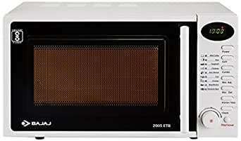 Bajaj 20 Litres Grill Microwave Oven with Jog Dial (2005 ETB, White)