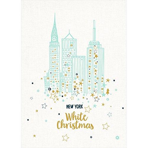 Spiegelburg 14376 Geschirrtuch NY Skyline - White Christmas