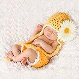 Baby Häkelkostüm Strick Kostüm Fotoshooting Baby Fotos Frühling Blume Gelb