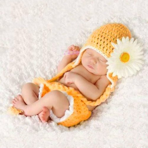 Baby Sonne Kostüm - Unbekannt Baby Häkelkostüm Strick Kostüm Fotoshooting Baby Fotos Frühling Blume Gelb