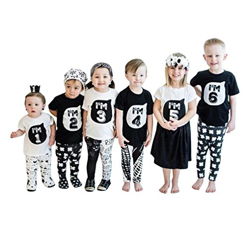 Clearance Sale!OverDose Kids Baby Girls Boys Family T-Shirts Short Sleeve Tops