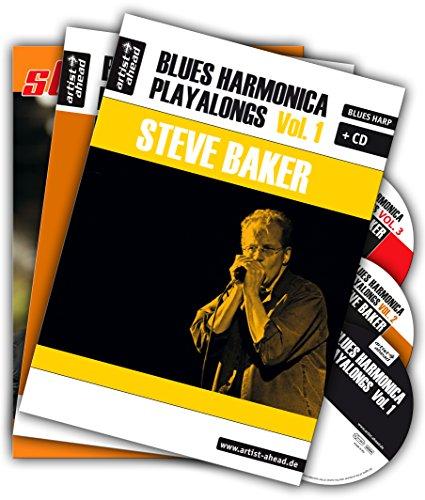 Blues Harmonica Playalongs - Set - Vol. 1-3, drei Bücher und drei CDs: Spielbücher für Blues Harp - im Set für nur 39,95 Euro statt 49,85 Euro