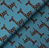 Swafing GmbH - Stoff - Jersey Giraffe Petrol - Meterware -