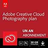 Formule Adobe Creative Cloud Photographie avec 20 Go: Photoshop CC + Lightroom CC | 1 an | Mac Téléchargement