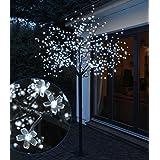 LED Baum mit 600 LEDs - 250 cm - für Innen und Außen - Farbe: kaltweiss