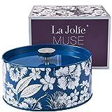 La Jolíe Muse Vela perfumada, Cera de Soja Natural Aroma de Jasmine, portavelas Cristal. para...