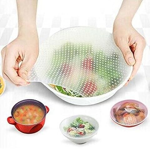 hunpta Joint pour aliments réutilisables en silicone Housse stretch frais Garder Cuisine Outils, Silicone, 15*15