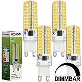 4X MENGS® Dimmbar G9 LED Lampe 7W AC 220-240V Kaltweiß 6500K 72x2835 SMD Mit Silikon Mantel