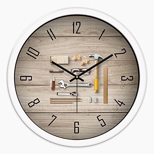 Oudan Wanduhr Nicht Ticken Zahl Quarz Wanduhr Wohnzimmer Dekorative Innen Uhr Schlafzimmer Uhr Küchenuhr Stilvolle Gedämpfte Quarz Uhr Stadt Marine Life.12 In Holzkiste -