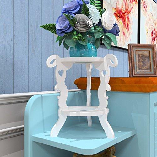 Europäische Blumenregal zweistöckigen Wohnzimmer Balkon Innenimitat Holz Blumenregal einfache moderne grüne Blumentopf Rack multifunktionale Standregal weiß ( Size : 40x32x33.7cm ) (40 X Board 32)