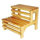 Schritt Hocker Für Senioren, 2 Schritt Holz Stufenleiter Regal Für Küche Schlafzimmer Wohnzimmer