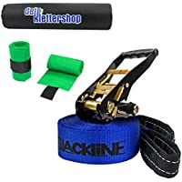 Slackline with printing I Love Slackline in different lengths and colours by Alpidex