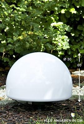 Kugelleuchte Kugellampe - Aussenlampe Mit 40 Cm Durchmesser Mit Erdspiess Und 5 Metern Zuleitung
