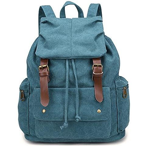iDream - 2013 nouveau sac à dos sac en toile d'épaule pour école hiking camping randonnée voyage etc. (36*15*46cm Bleu)
