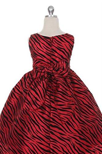 Needybee Red & Black Zebra Pattern Dress