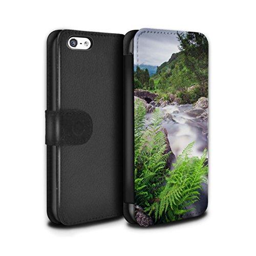 Stuff4 Coque/Etui/Housse Cuir PU Case/Cover pour Apple iPhone 5C / Hautes/Roches Design / Cascades Collection Courant