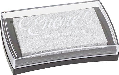 Knorr prandell 211511875 Pigment Stempelkissen (Encore Metallic, 10 x 6 cm) silber -