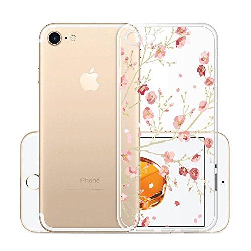 Per iPhone 7 / iPhone 8 Cover , YIGA Moda Cristallo Trasparente Silicone Morbido TPU Case Protezione Custodia per Apple iPhone 7 / iPhone 8 (4,7 pollici) WM84