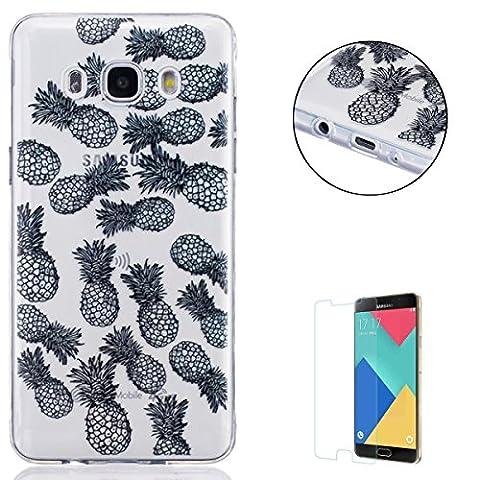 Coque Samsung Galaxy J5 2016/J510FN Silicone [Avec Gratuit Protections D'écran],Housse