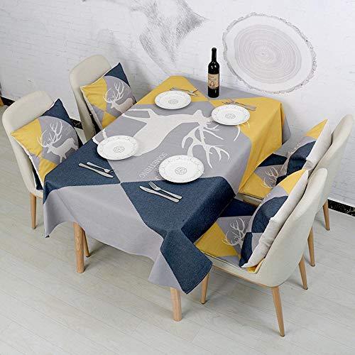 ChenHui Nouveaux élans Simple air Frais Campagne Claire Impression et Teinture modèle Table et Chaise Tissu Salon