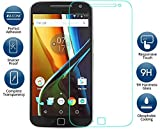 eFinetrick Premium Full Screen Edge To Edge Coverage 2.5D Curved HD+ Tempered Glass Screen Guard Protector For MOTOROLA MOTO G4 PLUS FOURTH GENERATION Transparent