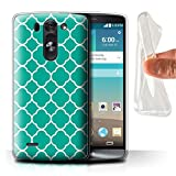 Stuff4® Gel TPU Hülle/Case für LG G3 Mini S/D722 / Quatrefoil/Klee Muster/Teal Mode Kollektion