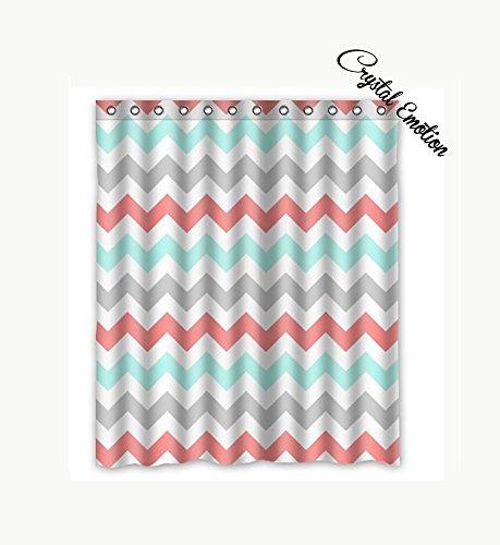 Crystal Emotion Deko Rot Leopard und Zebra Animal Print Stoff Vorhang für die Dusche 60x72 Color16 (Dusche Vorhang-set Zebra-print)