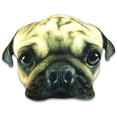 Cheeky Baldrick Pug Face Cushion (Large) - cheap UK cushion store.
