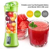 Kakde's & CO. Mini Portable USB Rechargeable Bottle Juice Blender Smoothie Maker Vegetables Fruit Bottle 380 ml( Multi Color)