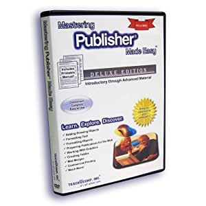 Mastering Publisher Made Easy Training Tutorial v. 2010, 2007 & 2003 - How to use Microsoft Publisher Video e Book Manual Guide. Even dummies can learn step by step from this total DVD for MS Publisher, with Introductory - Advanced material from Professor Joe