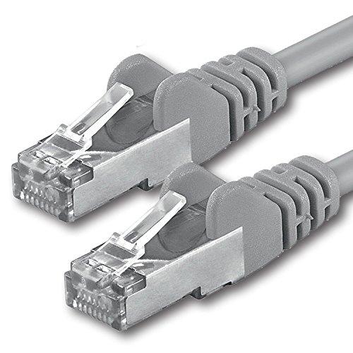Preisvergleich Produktbild 1aTTack CAT 5e foliengeschirmt FTP Netzwerk Patch-Kabel mit 2x RJ45 Stecker 15m grau
