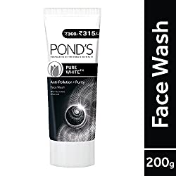 Ponds Pure White Anti Pollution With Activated Charcoal Facewash, 200g