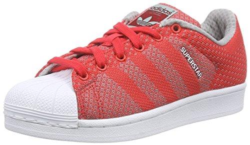 adidas Originals Superstar Weave, Unisex-Erwachsene Sneakers, Rot (Tomato F15-St/Tomato F15-St/Ftwr White), 44 EU (Runde Team-logo-patch)