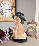 Nostalgische Frauenbüste/Büste/Kopf/Statue/Frau mit lieblichem und französischem Aussehen aus Polystein und zudem im angesagten Stil der wilden 20er Jahre- Palazzo Exclusive