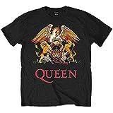 Queen Herren Classic Crest T-Shirt, Schwarz, S