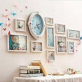 Hyun times Photo mur en bois massif salon divan canapé style européen enfants combinaison créative créative cadre